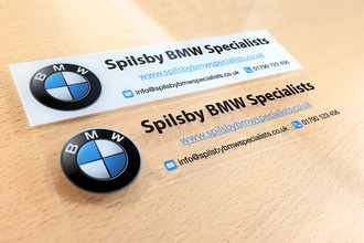 Window Stickers - Comparison of white background and clear background | www.stickersinternational.co.uk